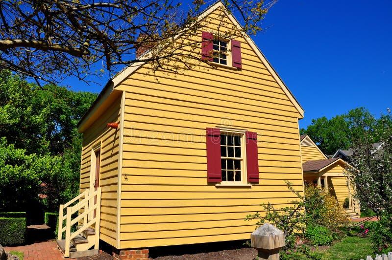 Raleigh, NC: 1779 Joel Lane Museum House stock afbeelding