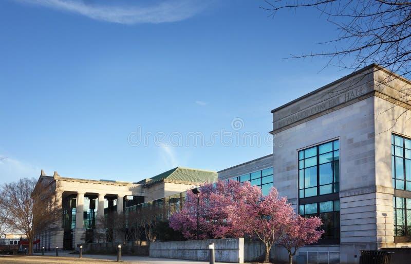 RALEIGH NC/USA - 02-07-2019: , Duke Energy Center för föreställningskonsten, förr framstegenergimitten, i centrum arkivbild