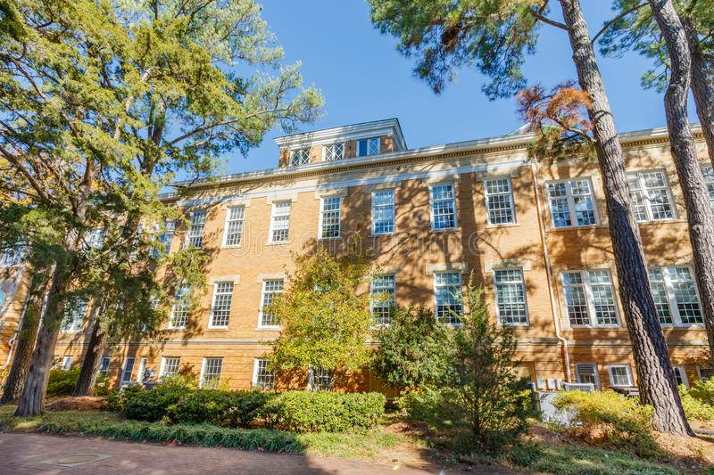 Patterson Hall at NC State University. RALEIGH, NC, USA - NOVEMBER 24: Patterson Hall, College of Agriculture and Life Sciences on November 24, 2017 at North stock photography