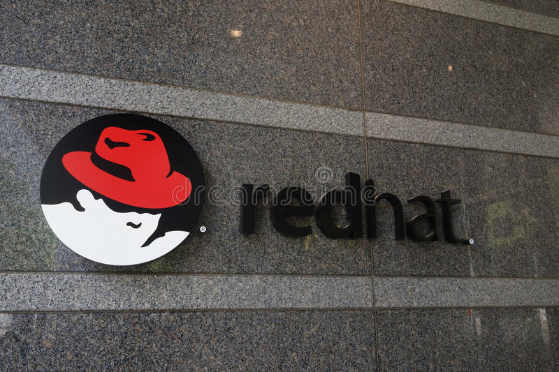 RALEIGH,NC/USA - 5-14-2015: Red Hat headquarters building in dow. Ntown Raleigh, NC stock photo