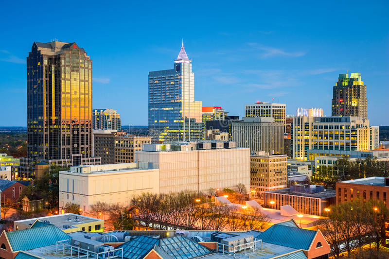 Raleigh North Carolina lizenzfreie stockfotografie