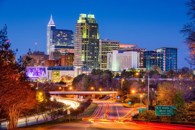 Raleigh North Carolina Skyline royalty free stock photo