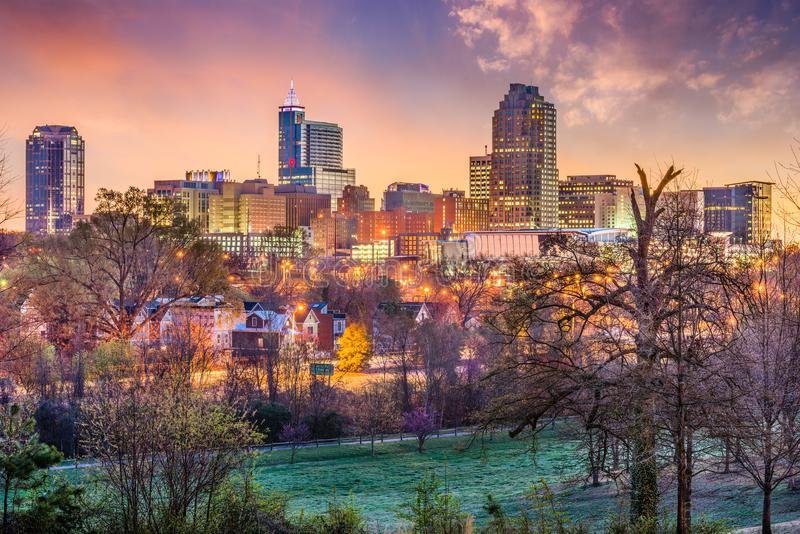 Raleigh North Carolina, USA arkivfoto