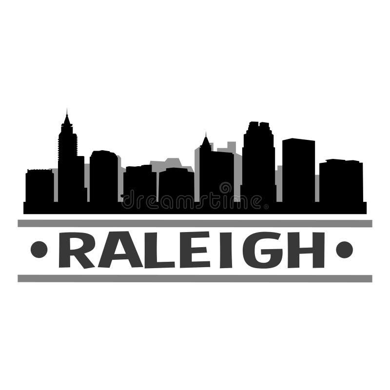 Raleigh Skyline City Icon Vector Art Design vector illustratie