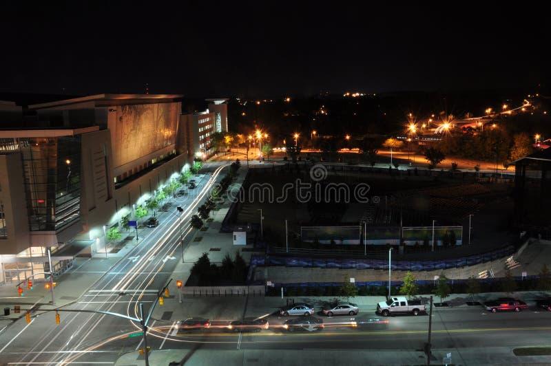 Raleigh van de binnenstad, Noord-Carolina stock foto's