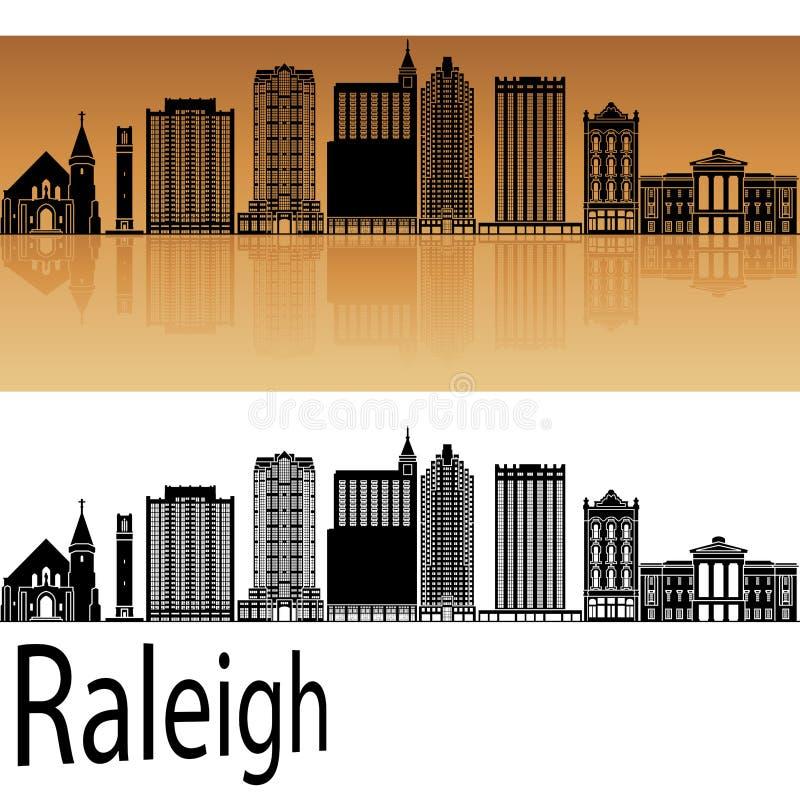 Raleighv2 horizon in sinaasappel royalty-vrije illustratie