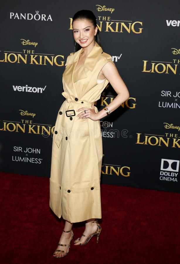 Raline Shah. At the World premiere of `The Lion King` held at the Dolby Theatre in Hollywood, USA on July 9, 2019 stock images