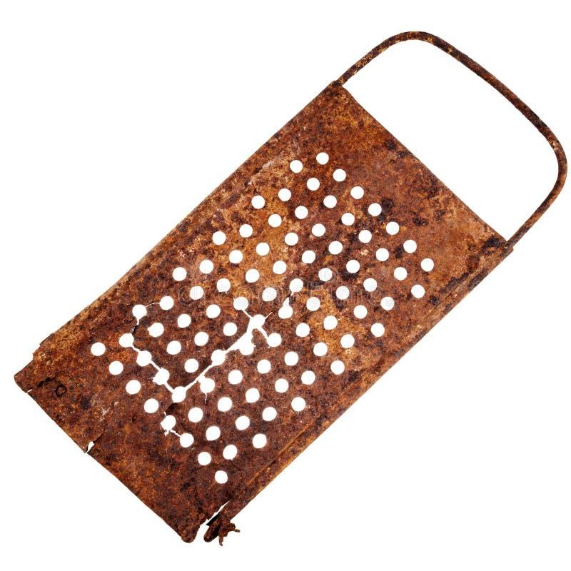 Rallador agrietado oxidado viejo foto de archivo libre de regalías