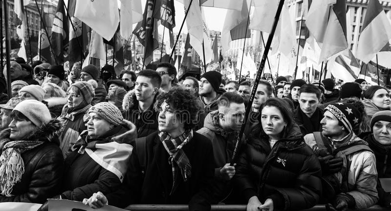 Rally against surrender on the Independence Square in Kyiv stock photos