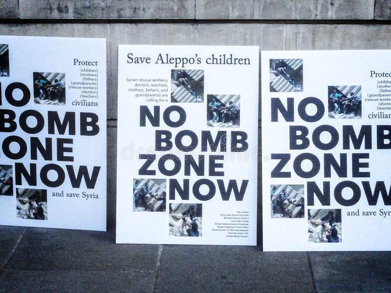 Rally for Aleppo - 01 royalty free stock photos