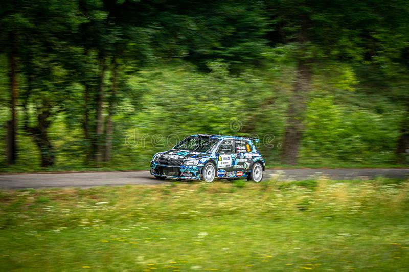 Rally Bohemia in Czech Republic stock image