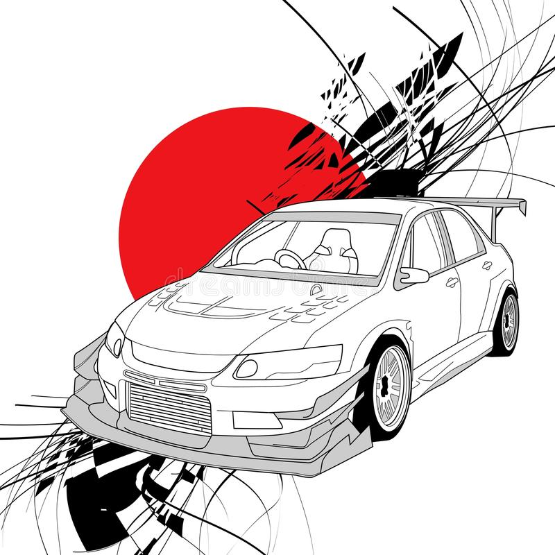 Free Rally Car Line Art Royalty Free Stock Images - 107938179