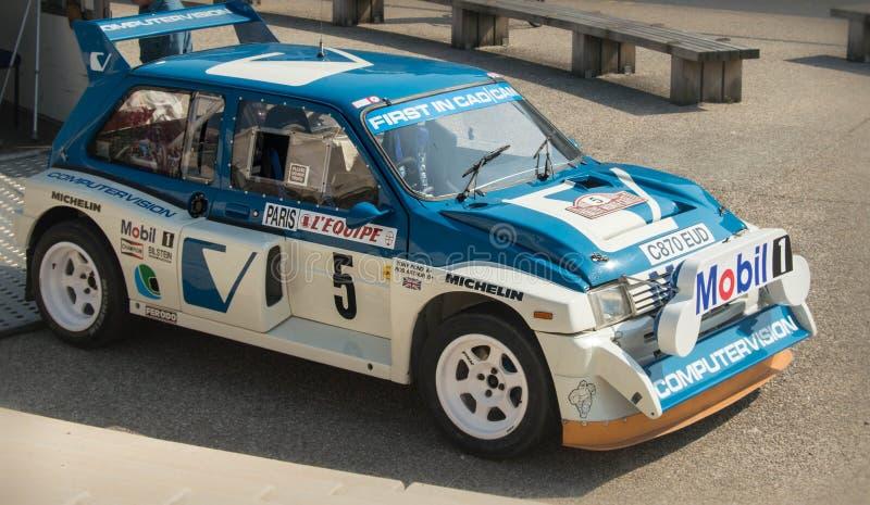 Rally car at car show in the UK stock photos