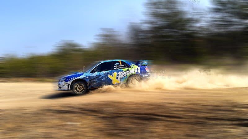 Rally Car Subaru Impreza STI royaltyfria bilder