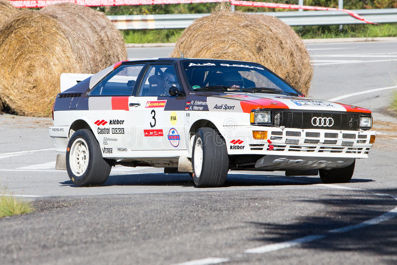 61 Rally Costa Brava. FIA European Historic Sporting Rally Champ. Ionship stock images