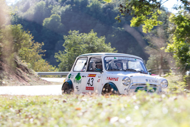 61 Rally Costa Brava. FIA European Historic Sporting Rally Champ. Ionship royalty free stock images