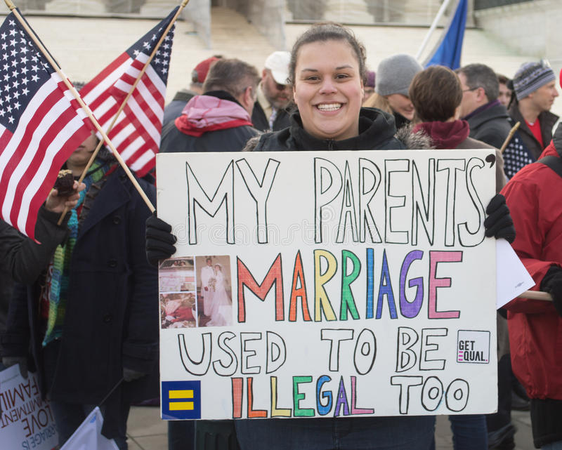 Marriage Rally At US Supreme Court stock images