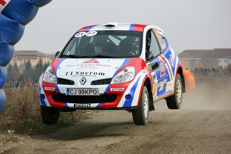 Rally jump stock photos