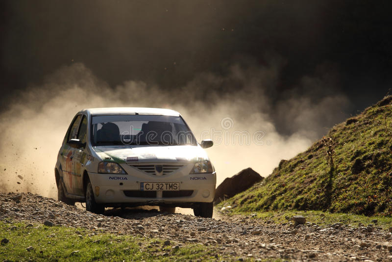 Rally Racing On Dust Gravel Editorial Stock Image
