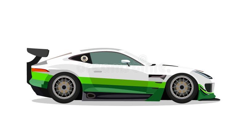 Rally sports car stock illustration