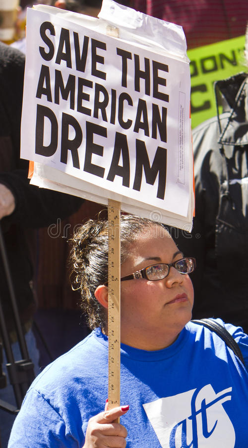 Download Rally To Save The American Dream Editorial Stock Photo - Image of dream, protester: 18549048