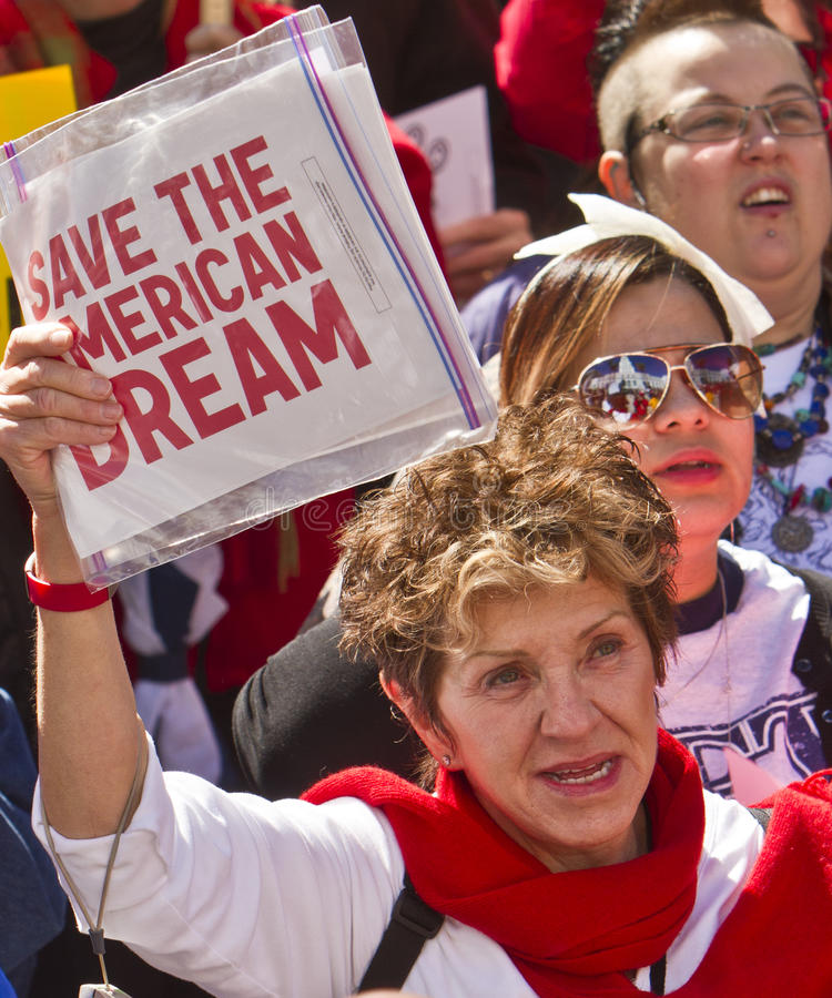 Download Rally To Save The American Dream Editorial Photo - Image: 18549291