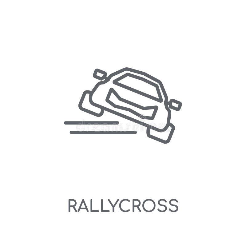 rallycross lineair pictogram Het moderne concept o van het overzichts rallycross embleem royalty-vrije illustratie