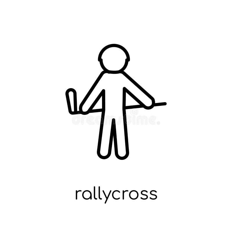 rallycross pictogram In moderne vlakke lineaire vectorrallycrossico vector illustratie