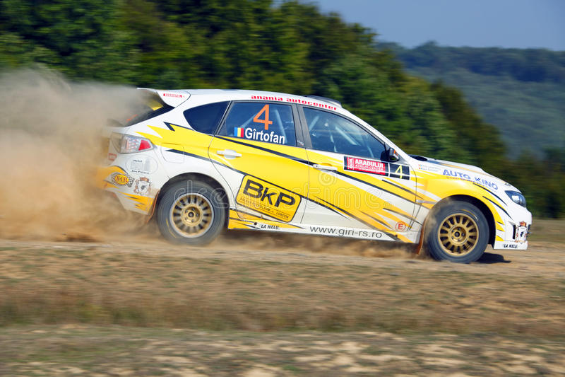 Rallye Auto stockfoto