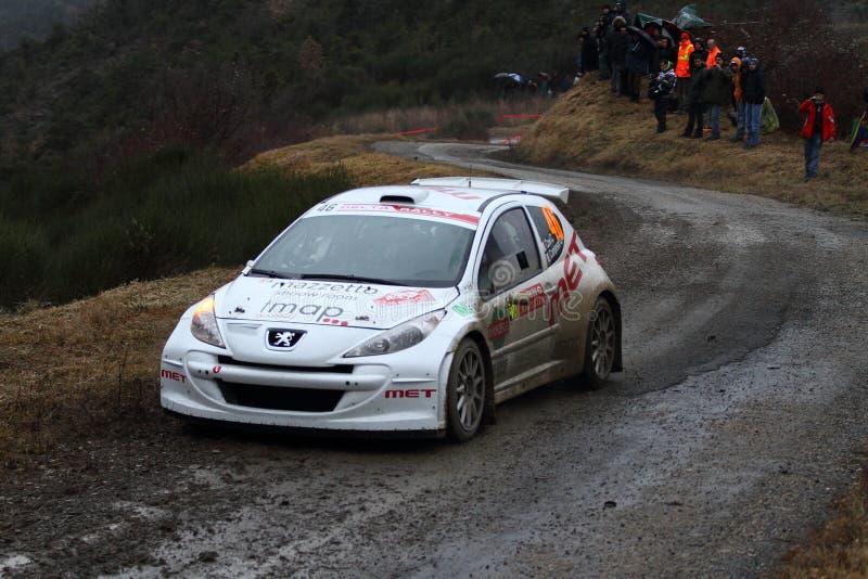 Rallye monte - carlo 2014 fotografering för bildbyråer