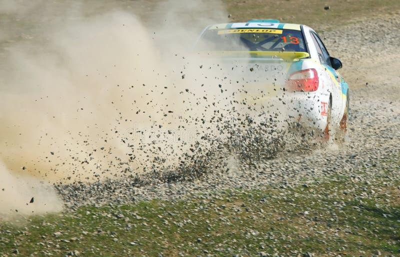 Rallye Schnellfahren stockfoto