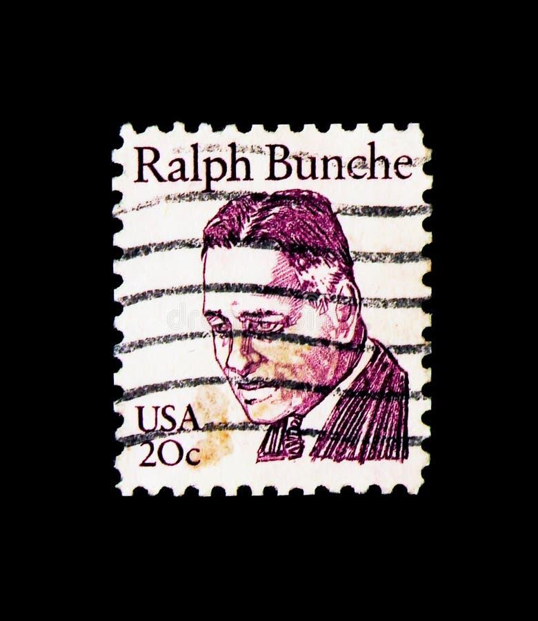 Ralph Bunche, Grote Amerikanen serie, circa 1982 stock fotografie