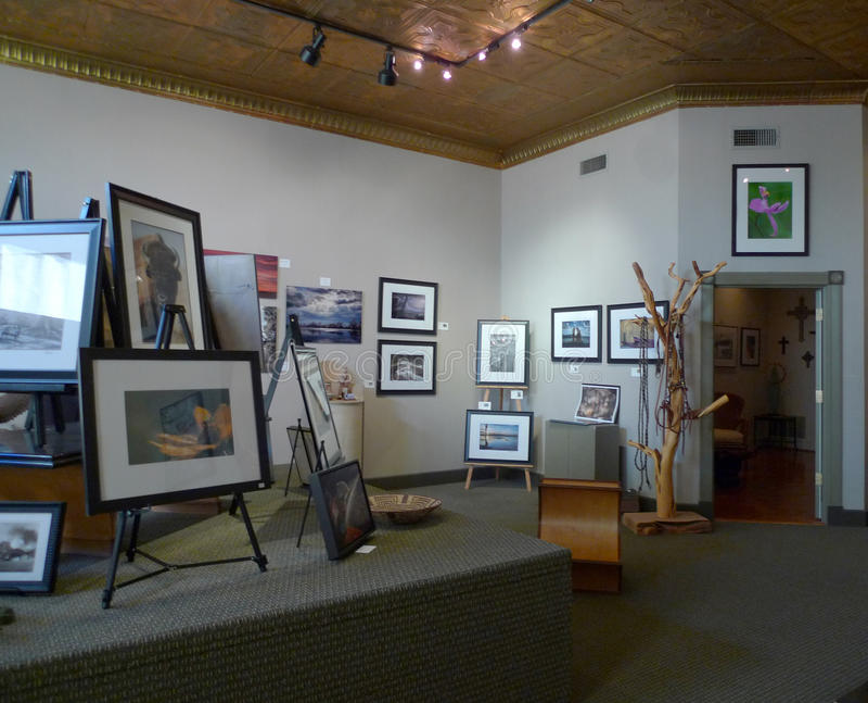 Ralph Irwin Studio, Van Buren, interno dell'Arkansas fotografia stock