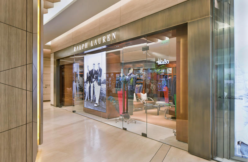 Ralph Lauren-afzet, Kerry Center Shopping Mall, Peking, China stock afbeeldingen