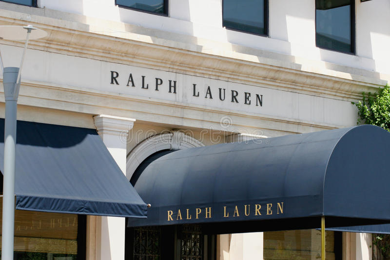 Ralph Lauren handlu detalicznego sklep odzieżowy obrazy stock