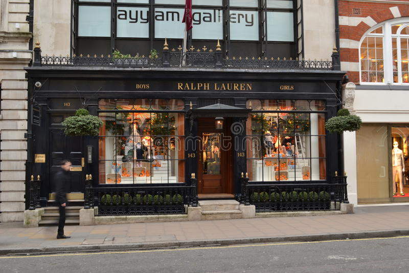 Ralph Lauren London Store. In New Bond Street royalty free stock photos
