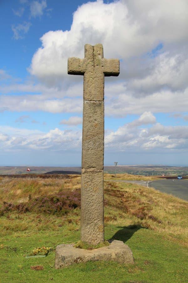 Ralph`s Cross, Westerdale Moor, North Yorkshire lizenzfreie stockfotografie