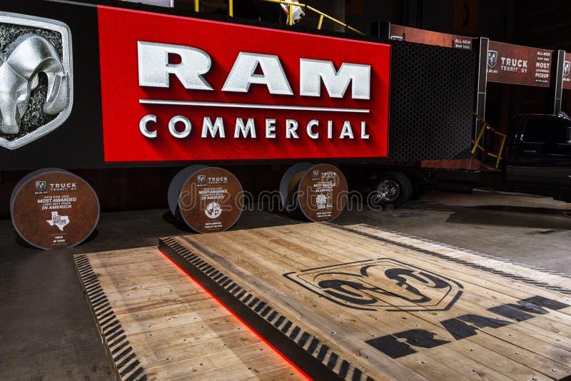 RAM在2019年芝加哥车展的介绍场面 免版税库存图片