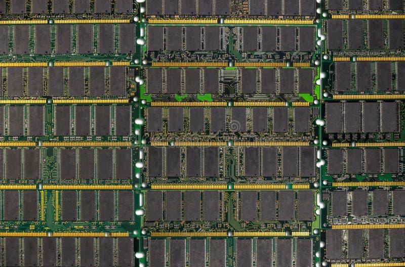 RAM ГДР, модули микросхем памяти компьютера стоковые фотографии rf
