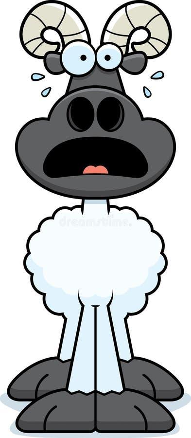 Ram assustado dos desenhos animados ilustração stock