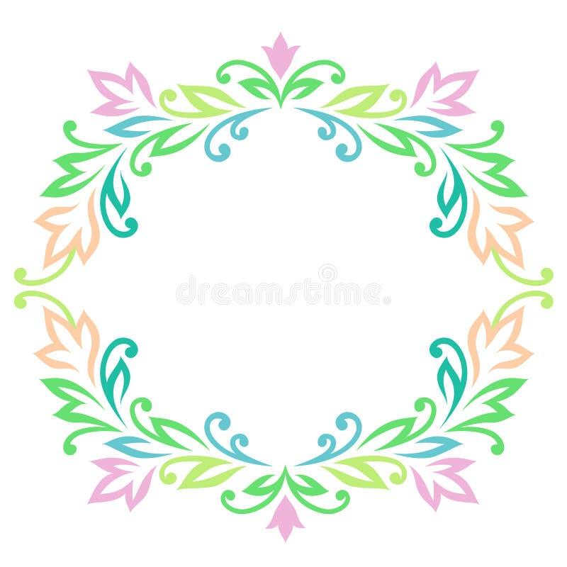 Ram av gröna sidor royaltyfri illustrationer
