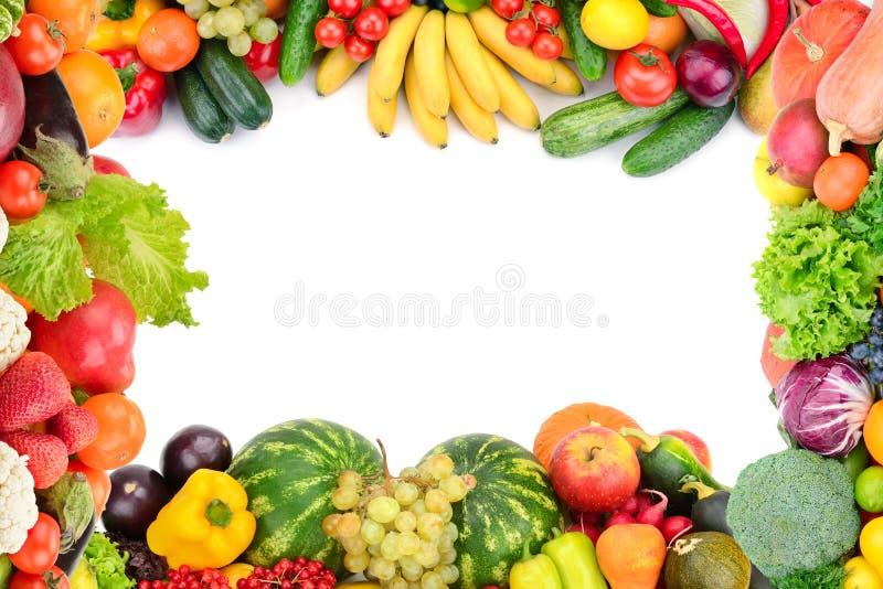 Ram av grönsaker och frukter fotografering för bildbyråer