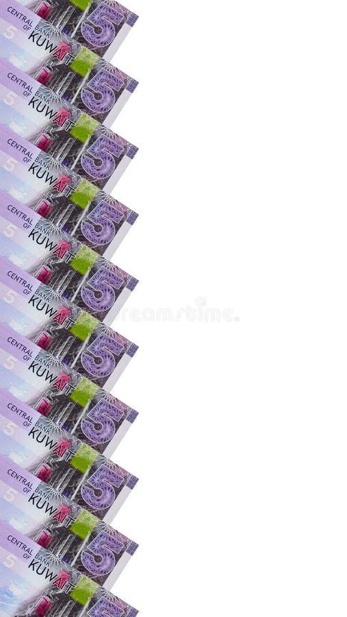 Ram av kuwaitiska 5 dinar sedlar royaltyfria bilder