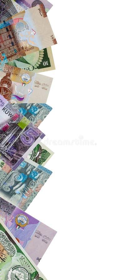 Ram av sedlar för kuwaitisk dinar royaltyfria foton