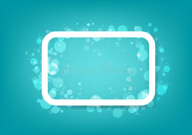 Ram bubblor i vattenbegreppet, enkel baneraffischdesign, illustration för Bokeh abstrakt bakgrundsvektor royaltyfri illustrationer