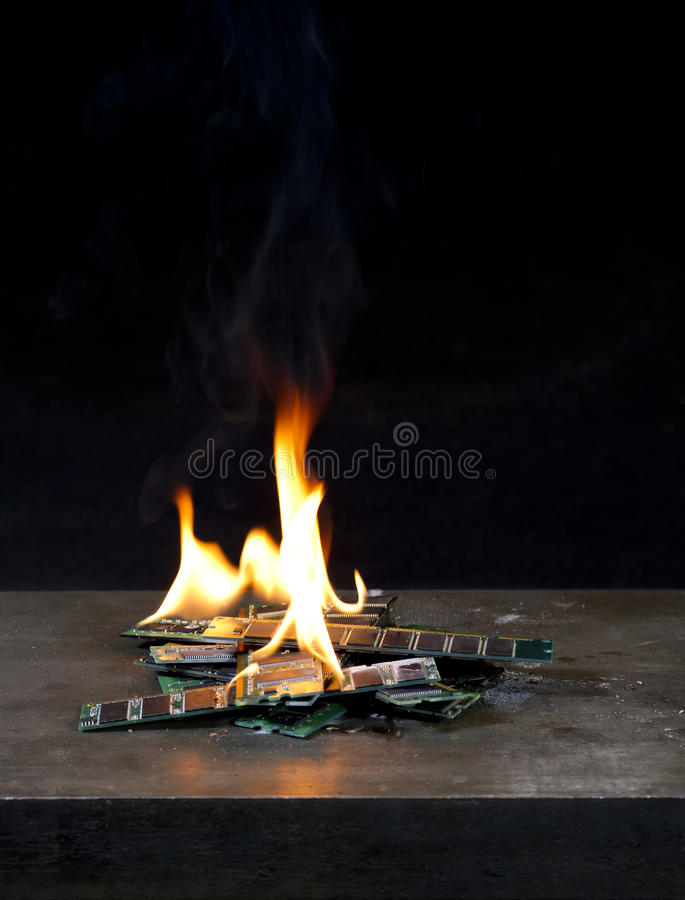 RAM Burning fotografie stock libere da diritti