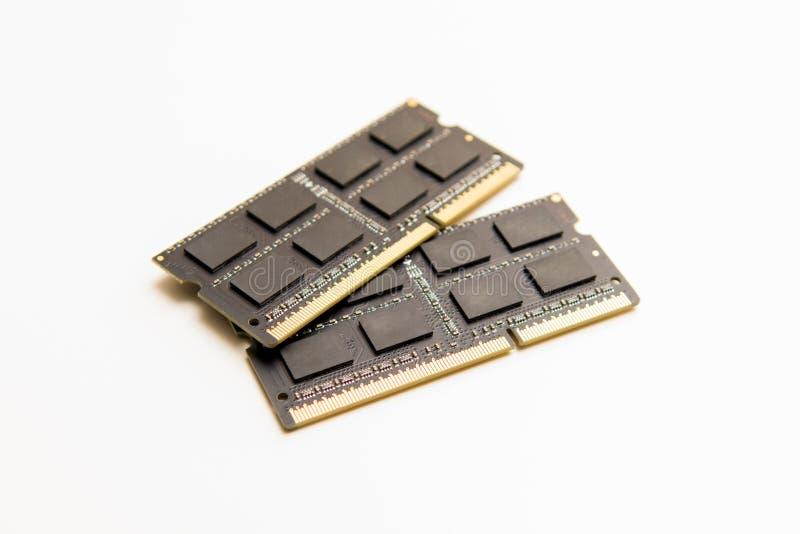 ram Cartes de mise à jour de mémoire à accès sélectif pour l'ordinateur ou l'ordinateur portable photo libre de droits