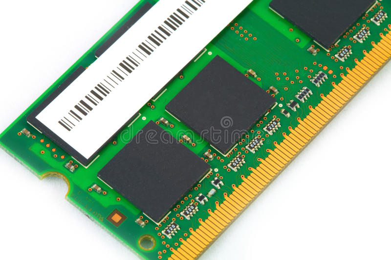 RAM for computer. Green color stock photography