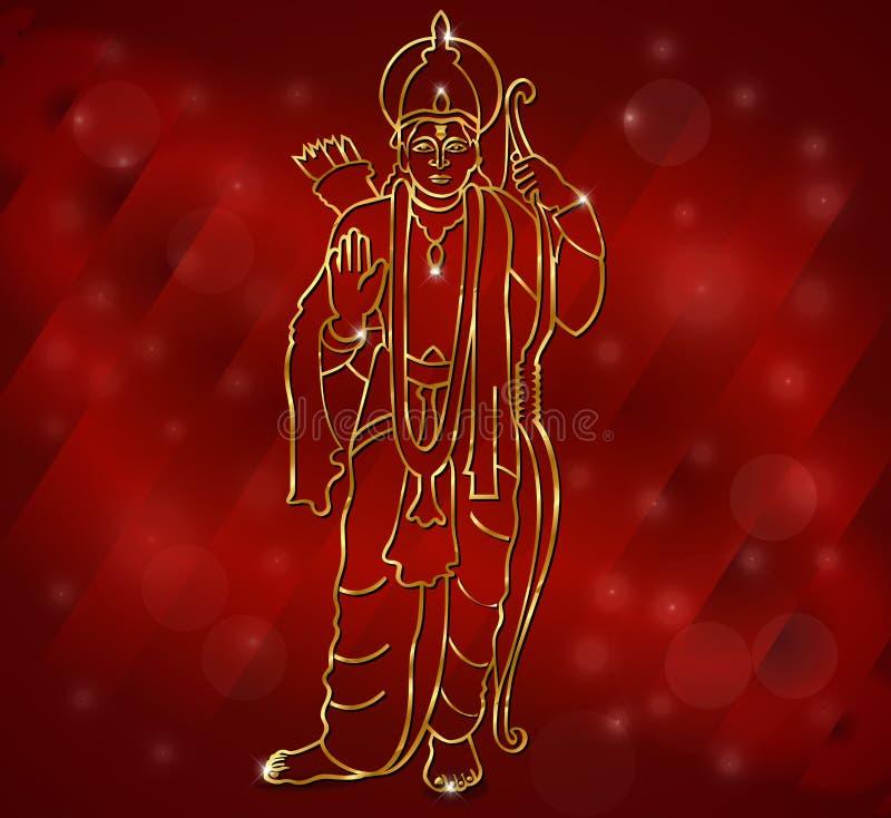 Ram di Shri con l'illustrazione di Lord Ram per il diwali royalty illustrazione gratis