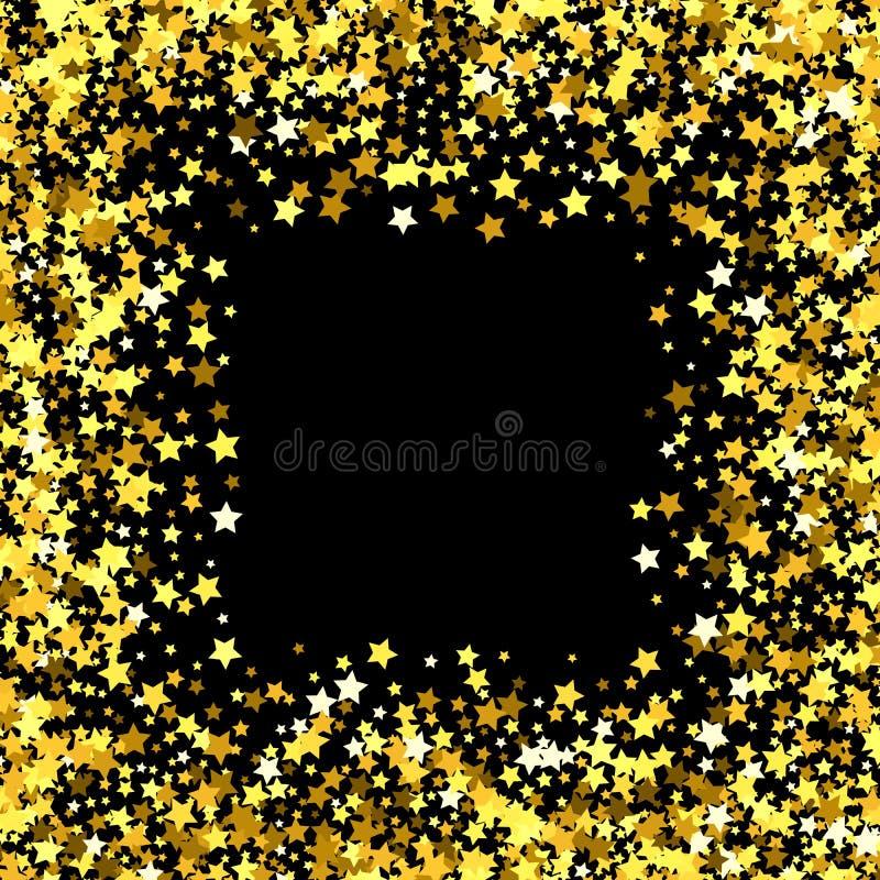Ram eller gräns av stjärnor vektor illustrationer